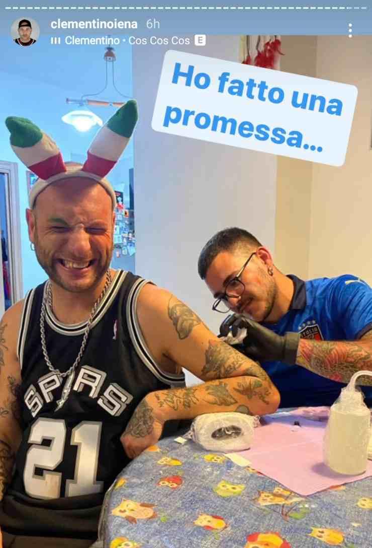 Clementino tatuaggio Insigne