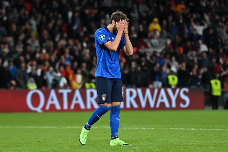 Cosa si sono detti Chiellini e Locatelli ai rigori contro la Spagna (Getty Images)