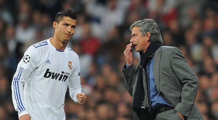 Cristiano Ronaldo e Mourinho