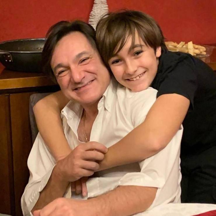 Fabio Caressa e suo figlio