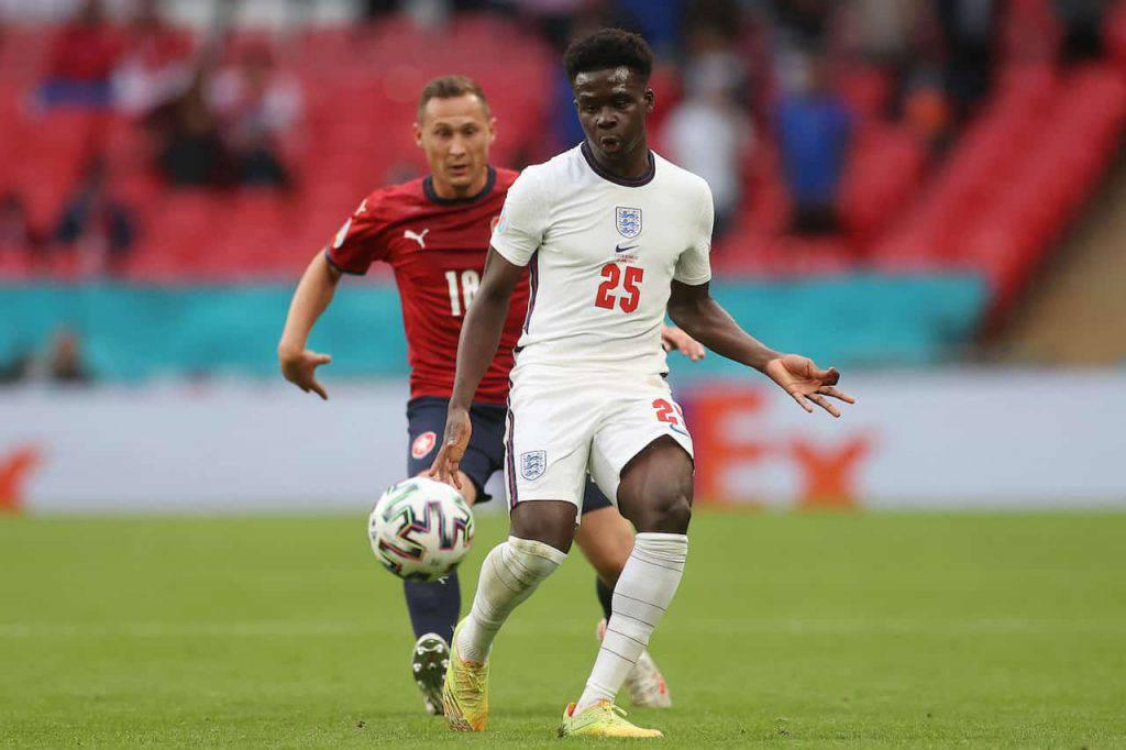 Inghilterra-Danimarca Bukayo Saka protagonista (Getty Images)