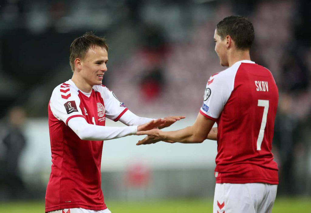Inghilterra-Danimarca Damsgaard gol punizione (Getty Images)