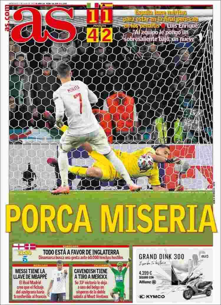 Italia stampa spagnola