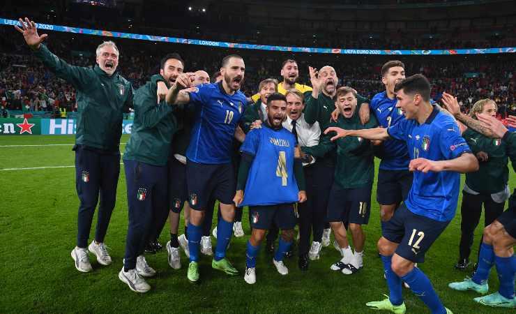 italia spagna festeggiamenti