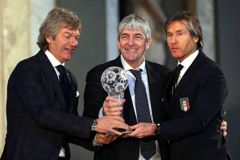Paolo Rossi Beautiful, il campione incontra uno dei protagonisti (Getty Images)
