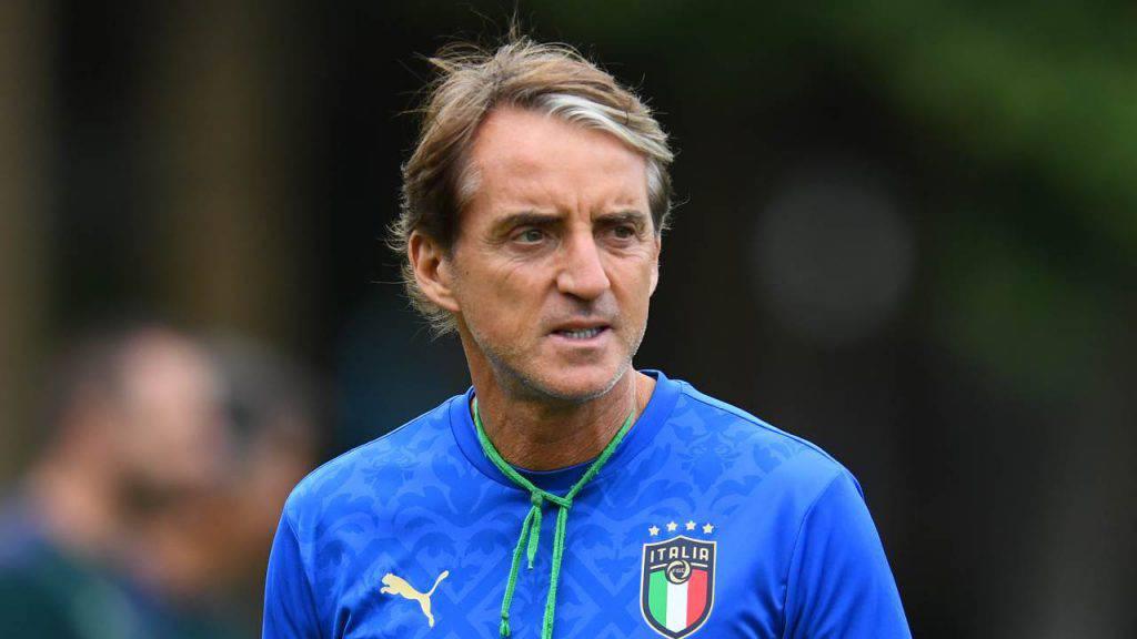roberto mancini italia spagna conferenza stampa