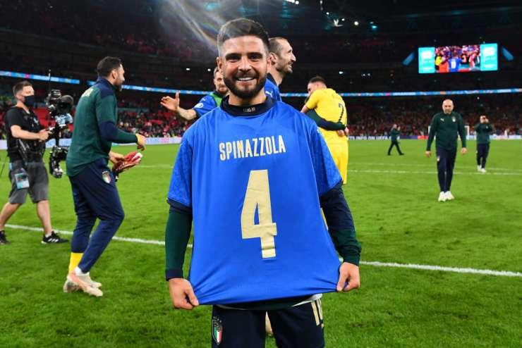 Insigne, l'omaggio a Spinazzola dopo Italia-Spagna