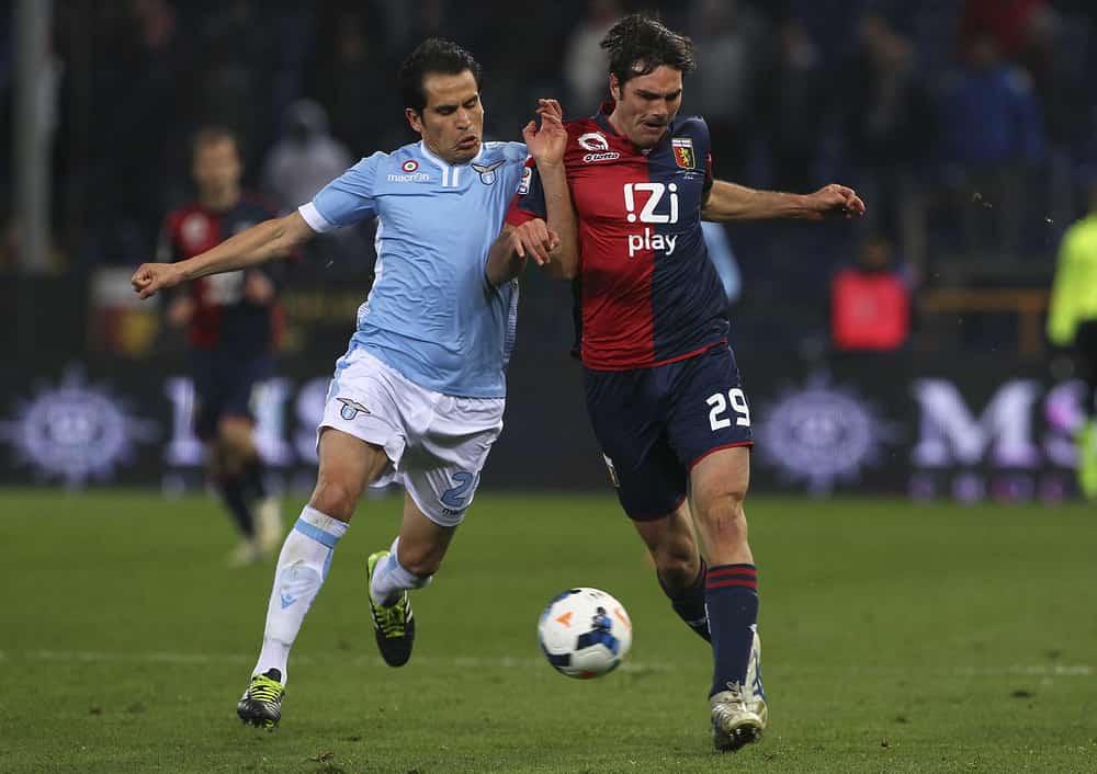 Cristian Ledesma in maglia Lazio