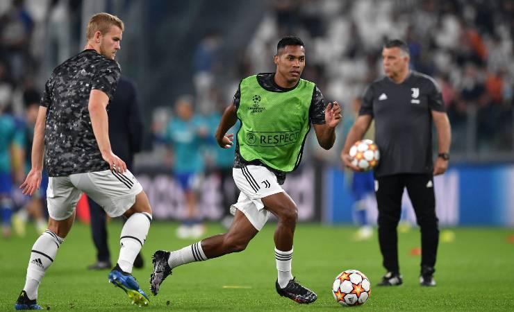 Il riscaldamento di Juventus-Chelsea