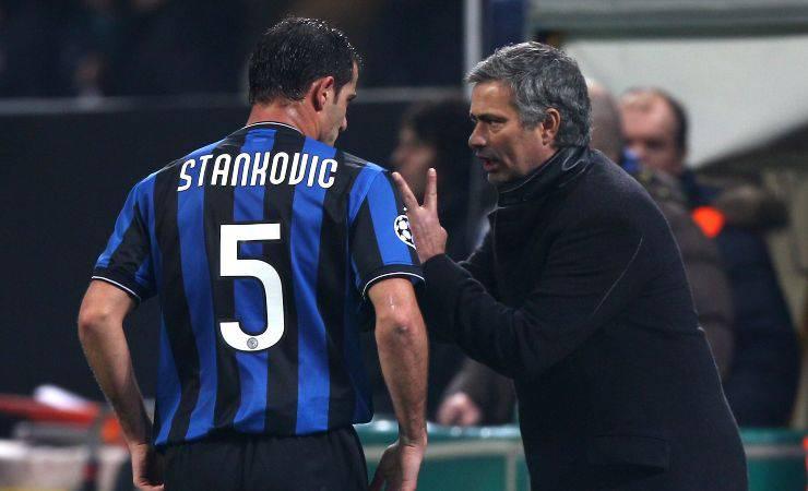 Dejan Stankovic e José Mourinho