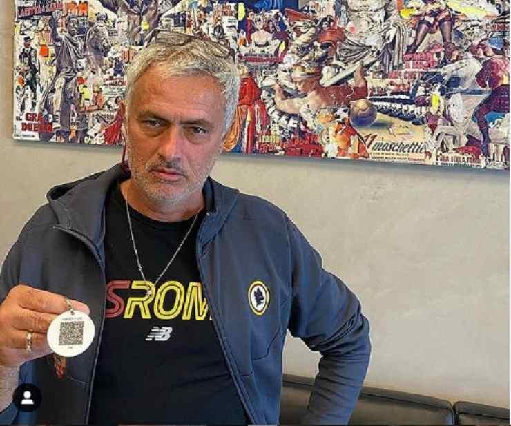 Mourinho con il Green Pass